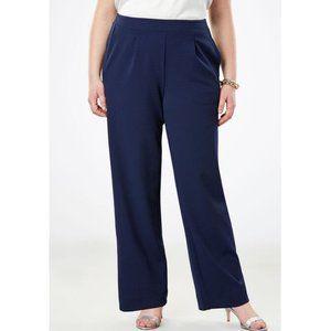 NEW Roaman's Navy Blue Pull On Pants Size 12